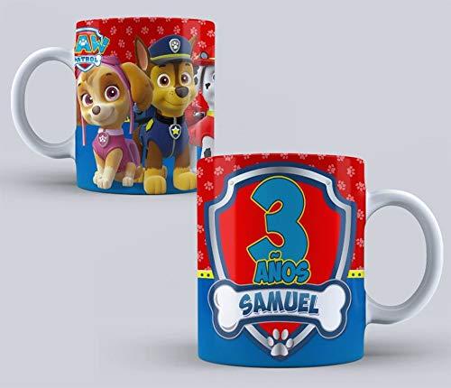 Taza patrulla canina personajes cumpleaños niños 350ml-M2