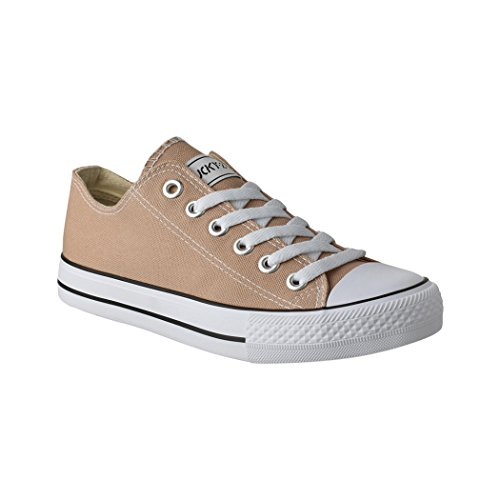 Elara Damen Herren Sneaker sportlich Chunkyrayan BenkeyB NEU-CA01/CB09 Khaki-45