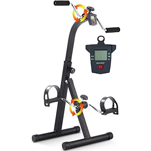 ZGHOME Ancianos Formación Bicicleta Estática El Brazo Y El Ejercicio De Piernas Vendedor Ambulante Máquina Ejercitador De Pedal Portátil Aparatos De Gimnasia para Personas Mayores