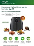Philips HD9216/43 Air Fryer, uses up to 90% Less Fat, and 1.8 m Retractable Cord, (Grey)