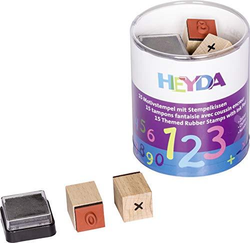 Heyda 204888478 Heyda 204888478 Stempel-Dose (Zahlen) Motivgröße: ca. 1,5 x 1,5 cm