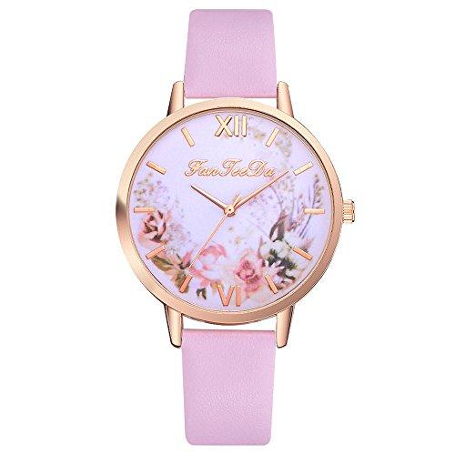 xy Relojes de diseñador de Damas Reloj de Lujo Mujeres 2020 Facefeeda Mujeres Casual Moda Cartul Cinturón Reloj Mecanismo Mujer MONTRE # 10 (Color : F)