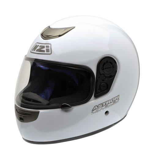 NZI Astron 600 Casco de Moto, Blanco, 55-56 (S)