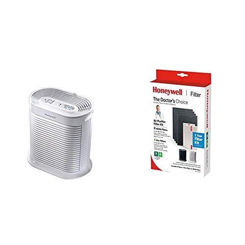 Honeywell True HEPA Allergen Remover, HPA204, White with Honeywell True HEPA Filter Value Combo Pack for HPA200 Series Air Purifiers
