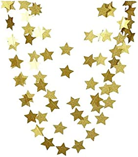 4 Meters Gold Glittery Star for Garland Party Holiday Decoration