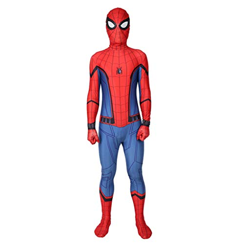 LGYCB Spider-Man Cosplay Bodysuit Halloween Kostüm Weihnachten Theme Parties Bühne Role Play Conjoined Tights Kleidung Masquerade Birthdays Jumpsuit,Spiderman-Kids XS(95~115cm)