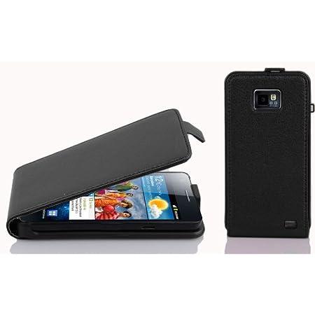 Cadorabo Coque pour Samsung Galaxy S2 // S2 Plus en Noir DE Jais Stand Horizontal et Fente Carte Portefeuille Etui Poche Folio Case Cover Housse Protection avec Fermoire Magn/étique