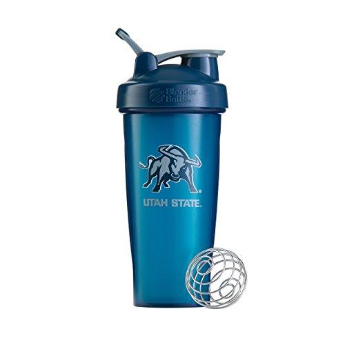 BlenderBottle Collegiate Classic 28-Ounce Shaker Bottle, Utah State University Aggies - Blue/Blue