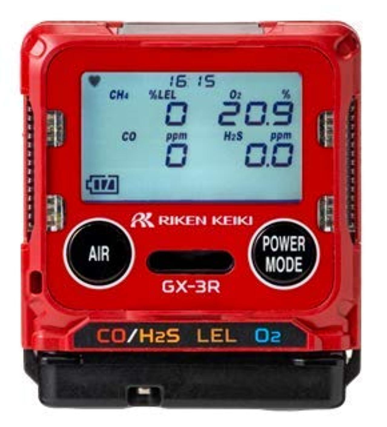 等しいサイバースペースアラブサラボ理研計器 複合ガス検知器 ポータブル3成分ガスモニター GX-3R TYPE-C 検知対象:HC/O2/CO