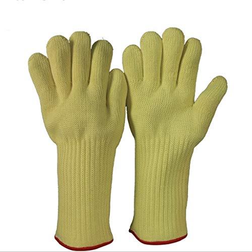 Jzw Aramid-Material Flammhemmende Hochtemperatur-500-Grad-Handschuhe Verbrühungshemmende Wärmeisolierung Schnittschutzhandschuhe Backen Mikrowellenofen