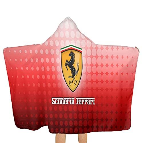 Ferrari - Toalla de playa para niños, ultra suave, superabsorbente, algodón, 80 x 130 cm, algodón, uso al aire libre, para niños y niñas
