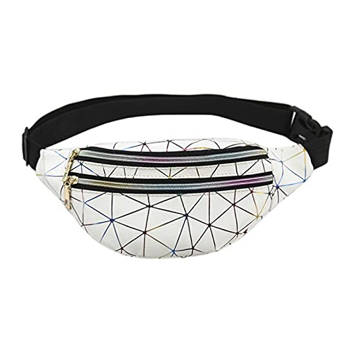 QIANJINGCQ Nuovo marsupio sportivo nuovo sacchetto del torace impermeabile del laser a rombo geometrico moda all'aperto borsa per cellulare vendita calda