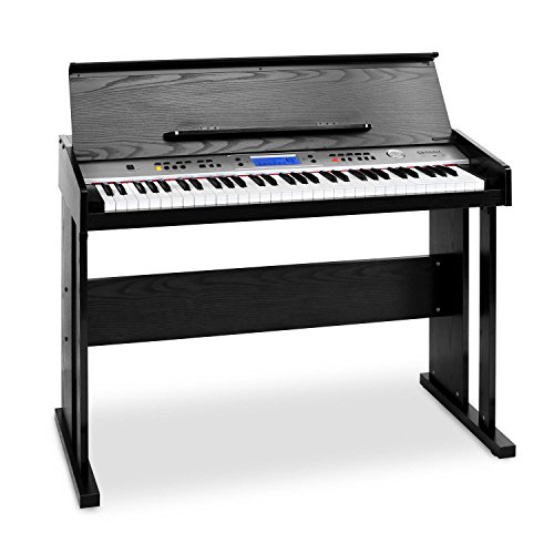 Schubert Carnegy-61 - Keyboard, E-Piano, 61 Tasten, 100 Rhythmen, 136 Instrumente, 8 Demosongs, Anschlagdynamik, Aufnahme-Funktion, schwarz