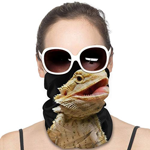 Beardie Sticking Out His Tongue Mask Magic Face Cover Protection Balaclavas Neck Gaiter Mask