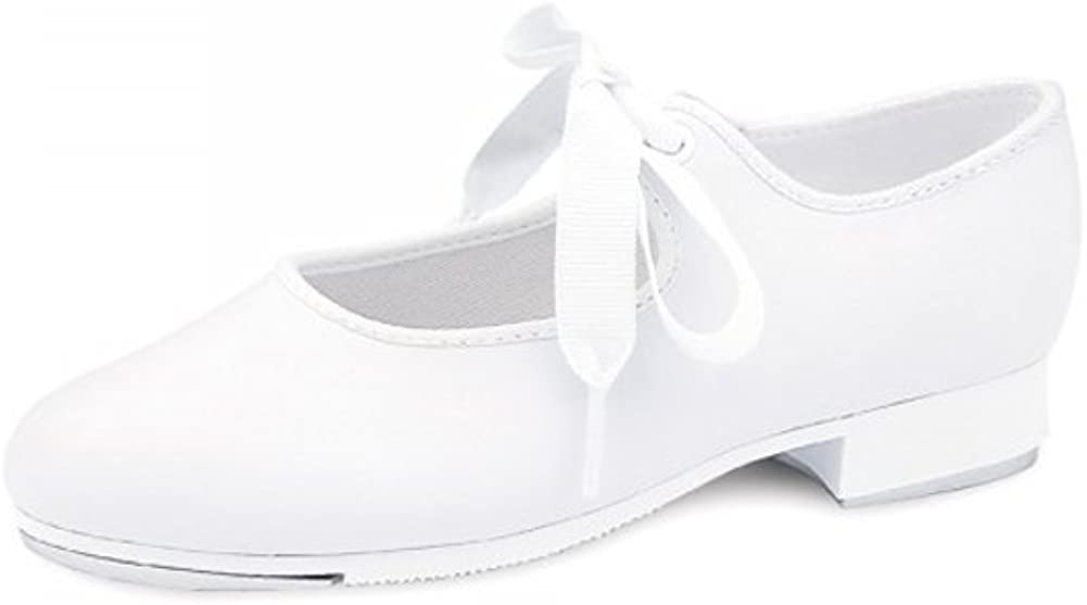 Bloch Girl's Dance Now Student Tap Shoes, White Leather, Cotton, 12.5 Little Kid M