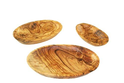 D.O.M.® Schale oval aus Olivenholz im 3er Set