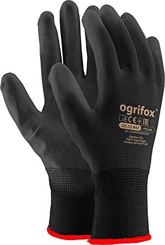24 paar PU gecoate zwarte nylon werkhandschoenen. Tuinieren, Bouwers, Mechanisch (M-8)