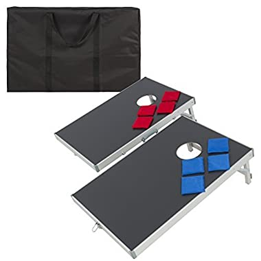 Best Choice Products Cornhole Bean Bag Toss Game Set with Carrying Case