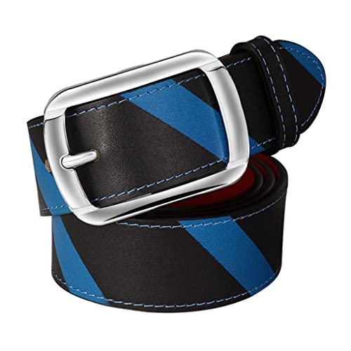 zdz Cinturón marrón de los Hombres,1.5'Hebilla de aleación Hebilla Reversible Agujero expandido Cinturón de Cuero Simple,Pantalones Vaqueros Casuales for Hombre TRABAJE Cinturón de Vestir