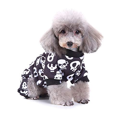 Amakunft - Disfraz de fiesta para perros, diseño de calavera y...