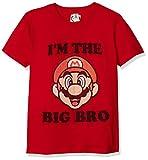 Nintendo Bro Graphic T-Shirt, red//Officially Licensed Big Dark Brown Youth Boy's el, Medium
