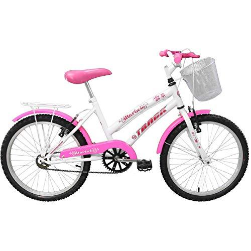 Bicicleta Aro 20 Marbela Com Cesta Branca E Rosa Track Bikes Multicor