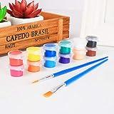 3 ml / 12 colores acrílico pigmento artesanía pintura pintura pigmento conjunto arte acrílico pigmento para tela, cuero, madera Balight