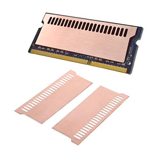 Easycargo - Kit dissipatore di calore in rame con memoria RAM, dissipatore di calore in rame + cuscinetto termico pre-applicato, per raffreddamento notebook 63 mm x 23 mm x 0,5 mm