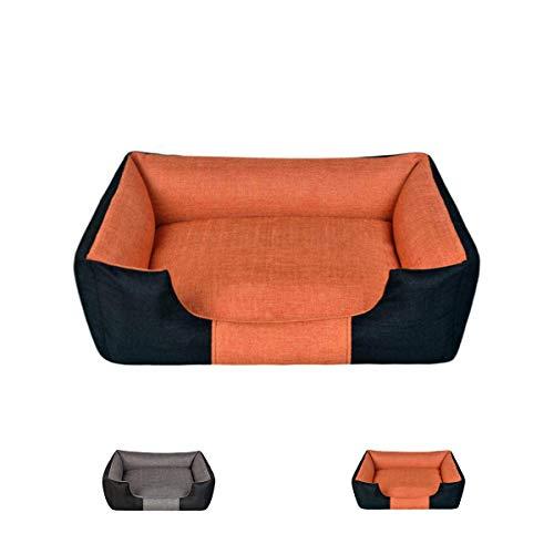 Avior Pets Beitun Hundebett Hundekissen Katzenbett mit abnehmbarem Bezug und wendbarem Kissen (XL, Orange)