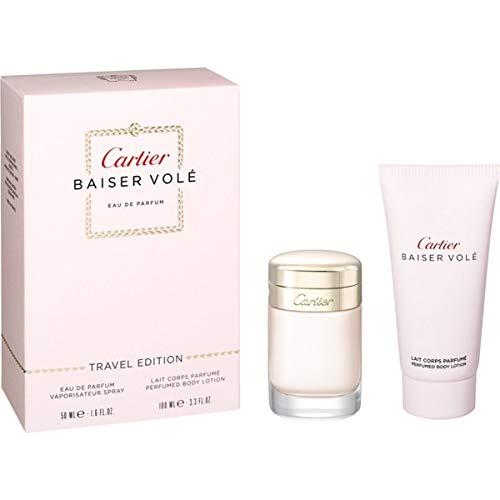 CARTIER BAISER VOLE by Cartier Gift Set for WOMEN: EAU DE PARFUM SPRAY 1.6 OZ & BODY LOTION 3.4 OZ (TRAVEL OFFER)