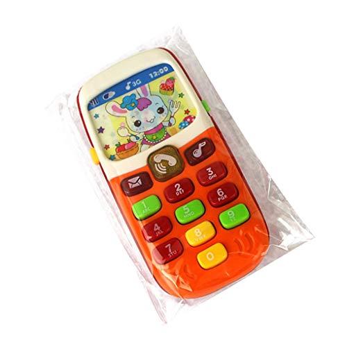 Guangcailun Juguete electrónico Teléfono niños teléfono móvil del teléfono móvil de Juguete móvil A los niños de Aprendizaje Regalo de los Juguetes del bebé Teléfono Educativo