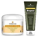 THENA Healing Cream For Eczema Psoriasis Dry Skin and Manuka Honey Cream Moisturizer