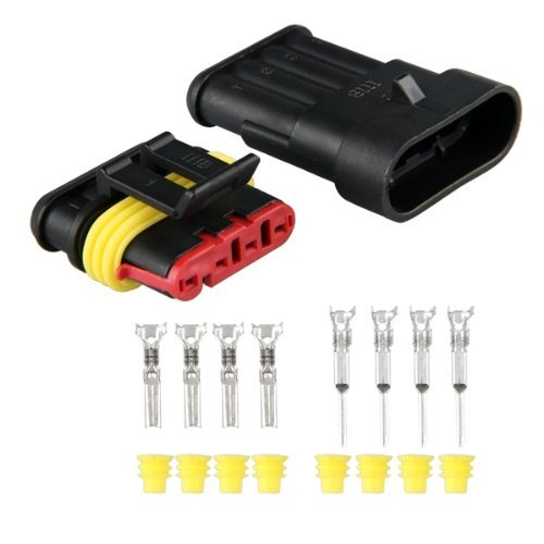 5 Set 4 polig Stecker Steckverbinder Wasserdicht für Auto KFZ Boot