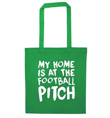 Flox Creative Tragetasche mit Aufschrift My Home is at the Football Pitch Gr. Einheitsgröße, grün