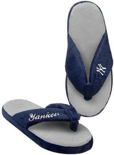 of forever women slippers Forever Collectibles New York Yankees MLB Licensed Women's Flip Flop Thong Slipper Adult Sizes