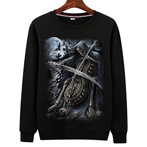 HOSD Suéter de Gran tamaño para Hombre, Chaqueta de Manga Larga con Cuello Redondo para niños y jóvenes