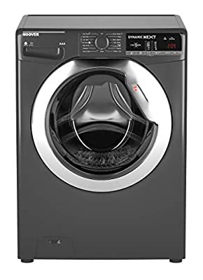 Hoover WDXOA 485CR Freestanding Washer Dryer, NFC Connected, 8Kg Wash/5Kg Dry Load, 1400rpm Spin, Graphite