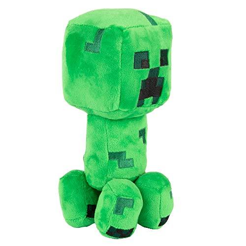JINX Minecraft Dungeons Happy Explorer Creeper Plush Stuffed Toy, Green, 7' Tall