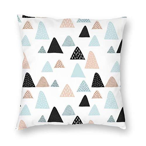 Funda de cojín con diseño de triángulo geométrico, estilo escandinavo, estilo escandinavo, de terciopelo suave, decorativa, cuadrada, para salón, sofá, dormitorio, con cremallera invisible de 20 x 20 pulgadas