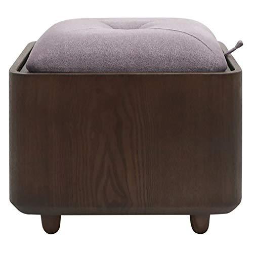 JQQJ opbergruimte sofakruk opslag Osmanen voetsteun zitkruk slaapkamer kaptafel salontafel kruk klein voetbord 40x40x34cm Walnut 2
