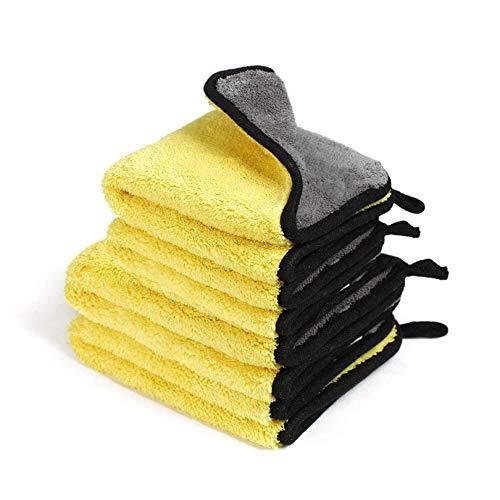 4er-Pack Mikrofasertücher Auto Küche Reinigungstücher, 1200GSM ultraabsorbierende Mikrofasertücher-schnell trocknend, wiederverwendbar zum Reinigen, zur Professionelle Autopflege