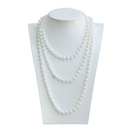 Oblique-Unique® Perlenkette 180cm für Charleston Kostüm 20er Jahre Perlen Kette