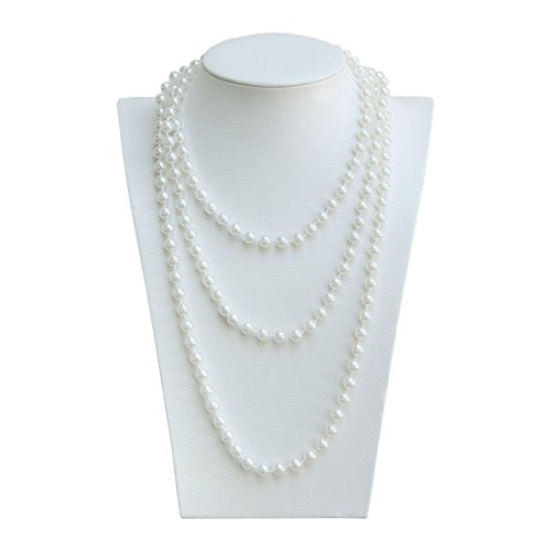 Oblique Unique® Perlenkette 180cm für Charleston Kostüm 20er Jahre Perlen Kette