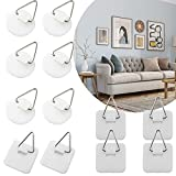 40Pcs Picture Hangers Without Nails, Sticky Hooks Clear Plastic Adhesive Stick on Wall Hooks Wall Sticky Hangers Without Nails for Hanging Plate Photo Wall Art Decoration