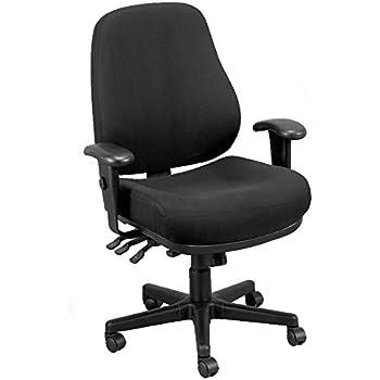 Eurotech Seating 24/7 Swivel Black Chair, Dove Black