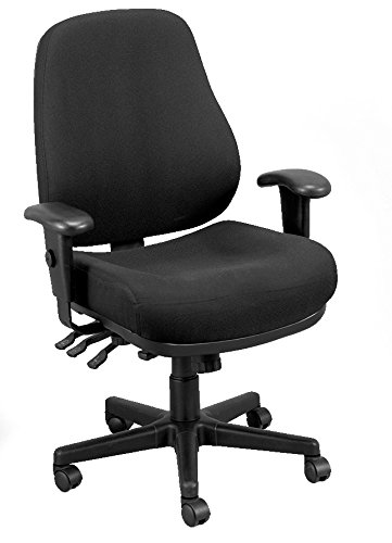 Eurotech Seating 24/7 Swivel Black Chair, Dove Black