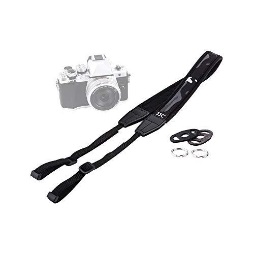 JJC Soft Shoulder Neck Strap for Panasonic G7 G9 G85 GX85 GX8 GX9 GH5 GH5S GH4 FZ80 FZ300 FZ1000 II F2500 LX100II LX100 Sony DSC-H300 DSC-H400V RX10IV RX10III RX1RII RX1R RX1 Camera & More
