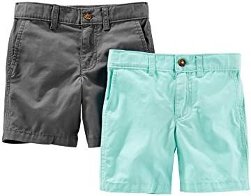 Simple Joys by Carter s Baby Boys Toddler 2 Pack Flat Front Shorts Mint Gray 3T product image