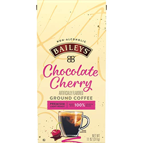 Bailey's Non-Alcoholic Chocolate Cherry Flavored Ground Coffee (11 oz Bag)