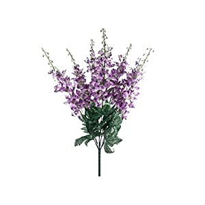 Purple Delphinium Bush Artificial Flowers 22″ Bouquet-Home Decor-Kitchen Decor-Artificial Flowers-Flowers-Artificial & Flowers-Garden Decor–Wedding Decor-Home Decor